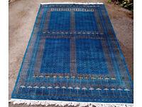 TOP QUALITY HAND MADE PESHAWAR PAKISTAN BOKHARA RUG 2.80mtr x 1.84mtr