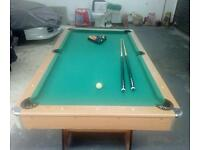 Pool table 6tf x 3ft