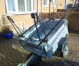 daxara tiping and camping trailer and bike rack