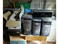 3 Dell computers, 2 printers and a fax