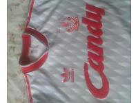 Old Adidas Candy Liverpool Shirt 1989