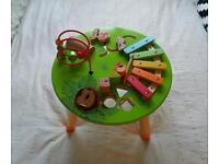 Carousel baby wooden musical table