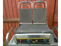 Commercial double Buffalo contact Grill, Panini maker.