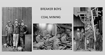 1911 Coal Mine 3 PHOTOS LOT Breaker Boys, Child Labor Pennsylvania Miners Kids