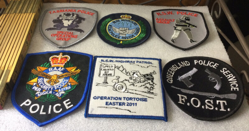 PATCH AUSTRALIA POLICE DEPARTMENT Lot Of 6 Assorted Patches