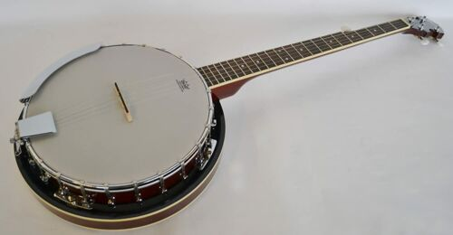 Banjo standard G Bluegrass 5 string closed back Remo head by Clearwater
