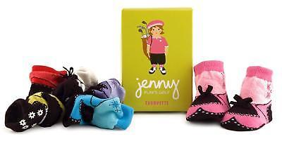 Trumpette Jenny Golf Girl 0-12 Months Cute Baby Socks Box Set of 6     - Jenny Golf Socks