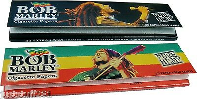 Bob Marley King Size Hemp Rolling Papers (2 packs) **Free Shipping** Bob Marley Rolling Papers