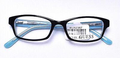 GUESS Kids Girls Marcolin 9091 4716 Eyeglass/Glasses Frames 47-16-130 Black >NEW