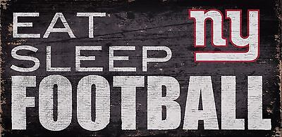 NY New York Giants Eat Sleep Football Wood Sign - NEW 12