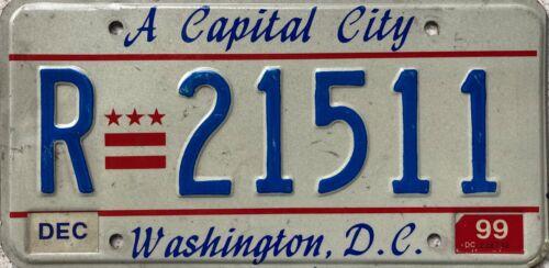 Washington DC Rental Vehicle American License Licence USA Number Plate R 21511