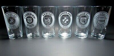 Zombies Perk a Cola Pint Glasses. Series1. 6 Glass Set. Call of Duty Black