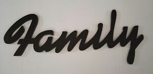 Home Decor | Hanging Wall Art: Wooden Script (Family)