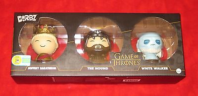 Used, SDCC 2016 Comic Con Funko Dorbz 3-Pack Game of Thrones Jofrey Hound White Walker for sale  Shipping to Canada