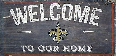 New Orleans Saints Decorations (New Orleans Saints Welcome to our Home Wood Sign - NEW 12