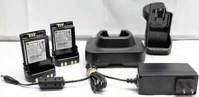 Motorola Impres 2 Single-unit Fast Charger With Two Motorola Nntn7038b Batteries