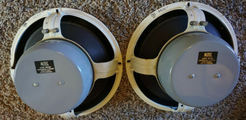 "ALTEC LANSING 419A 12"" BIFLEX Woofers (PAIR) 8 Ohm 3"" Voice Coils TESTED!"