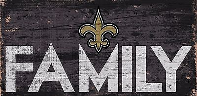 New Orleans Saints FAMILY Football Wood Sign - NEW 12