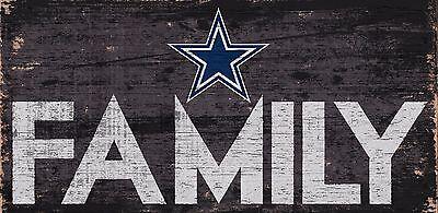 Dallas Cowboys FAMILY Football Wood Sign - NEW 12