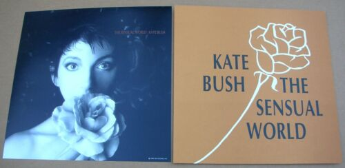 KATE BUSH The Sensual World 2 Sided Promo 12x12 Poster Flat 1989 Mint-