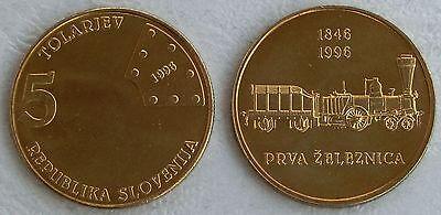 Slowenien / Slovenia 5 Tolarjev 1996 p29 unz.