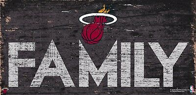 Miami Heat FAMILY Basketball Wood Sign NEW 12