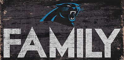 Carolina Panthers Gifts (Carolina Panthers FAMILY Football Wood Sign - NEW 12