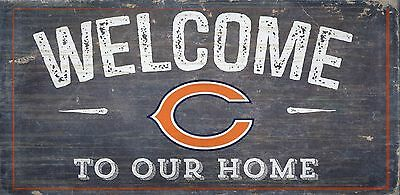 Chicago Bears Decor (Chicago Bears Welcome to our Home Wood Sign - NEW 12