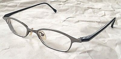 New SKAGA Silver Blue Pure Titanium Metal Frame Reading Glasses 3215 Sweden $400