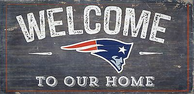 New England Patriots Welcome to our Home Wood Sign - 12