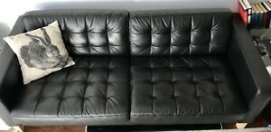 Modern - Leather Black Couch - Great Deal!