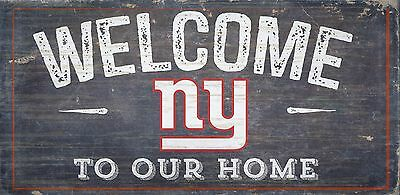 NY New York Giants Welcome to our Home Wood Sign - 12