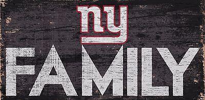 NY New York Giants FAMILY Football Wood Sign - NEW 12