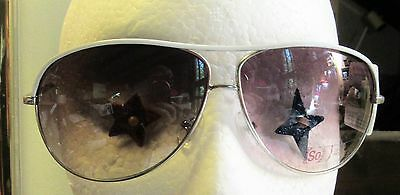 white wire avaitor Sunglasses  pilot Glasses tinted lens designer shades free sh