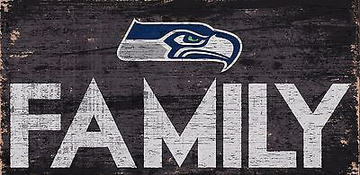 Seattle Seahawks FAMILY Football Wood Sign - NEW 12
