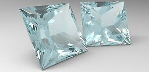 8-pcs-x-0-25-Carat-Russian-Lab-Simulate-Diamond-PRINCESS-CUT-3-4-x-3-4-mm-AQUA