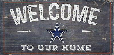 Dallas Cowboys Welcome to our Home Wood Sign - NEW 12