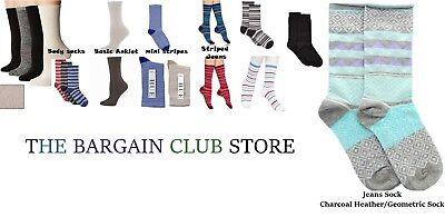 Hue Womens Socks Jeans (Hue Women's Socks Body Sock /Striped Jeans /Basic Socks or mini stripes One)