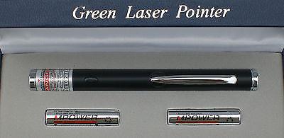POWERFUL BLACK APC 532nm GREEN LASER POINTER ASTRONOMY PEN