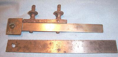 Starrett 299 Rule Clamp Coupler 307 6 Ruler Machinist Lathe Mill Tool