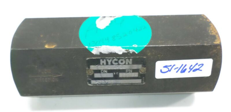 HYCON 5000PSI INLINE CHECK VALVE RV25-1.1/12