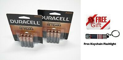 DURACELL AAA Battery 2 (TWO) 8 Packs MN2400 1.5V Alkaline MAR 2028 FREE SHIP, used for sale  Shipping to India