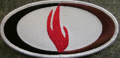 "4 INCHES FLAME 4"" W ED PARKER KENPO MARTIAL ARTS PATCH - NEW"