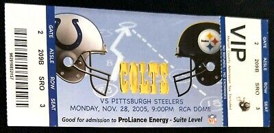 RARE VIP SUITE TICKET STUB PITTSBURGH STEELERS SUPER BOWL XL CHAMPIONSHIP SEASON