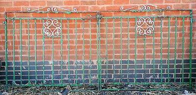 Pair Of Entrance/Driveway Gates. Wrought Iron. 254cm x 115cm.