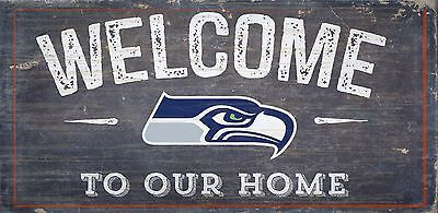 - Seattle Seahawks Welcome to our Home Wood Sign - NEW 12