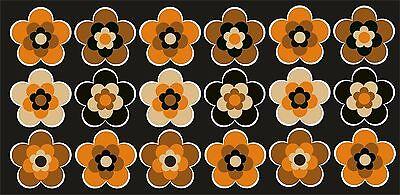 18 Stück ca. 5 cm Retro Retrostyle Blumen Blume Aufkleber AN1543