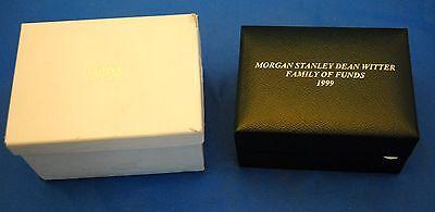 Round Cross Watch Ladies Leather Morgan Stanley Dean Witter Memorabilia 1999