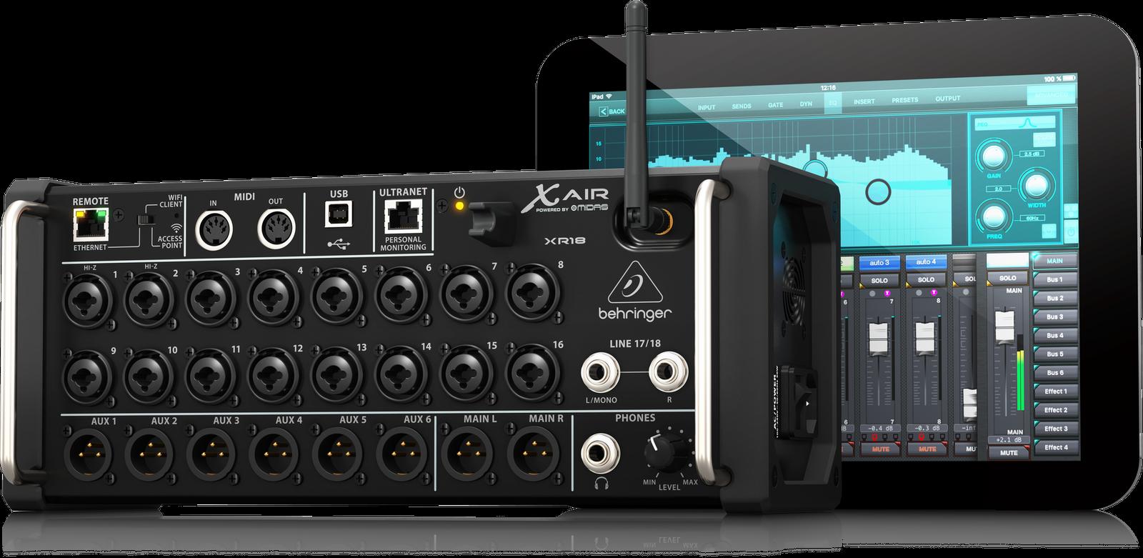 Behringer X AIR XR18 18-Channel 12-Bus Digital Mixer