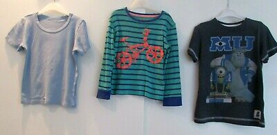 BOYS BUNDLE AGE 4-5 YEARS MIXED ITEMS VEST PYJAMA TOP & MONSTERS INC T-SHIRT